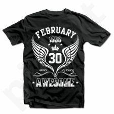 """Marškinėliai """"Being Awesome"""" su Jūsų pasirinkta data"""