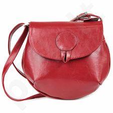 DAN-A T46 raudona rankinė iš natūralios odos , moteriška