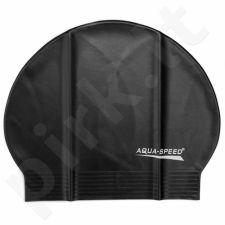 Maudymosi kepuraitė  Aqua-Speed Soft Latex juodas