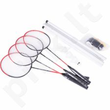 Badmintono rinkinys Allright 4 raketės + tinklelis