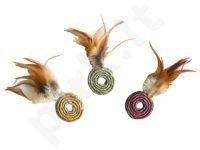 TOY NATURAL žaislas katei - žiedas su plunksnomis