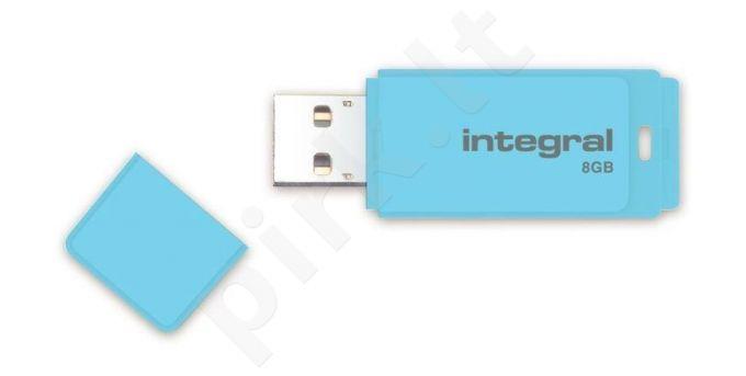 Integral Flash Drive Pastel 8GB, USB 3.0, Blue Sky