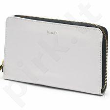 Piniginė moteriška odinė FELICE MP3 jasny pilka