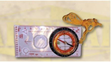 Kompasas su liniuote