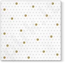 Servetėlės Inspiration Dots Spots White - Gold