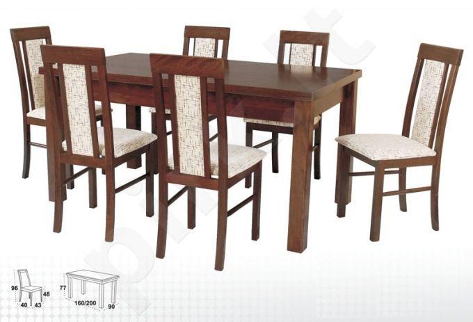 Stalas MODENA IV + 6 kėdės NILO II