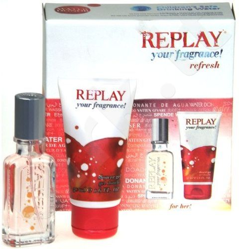 Replay (EDT 20 ml + 50 ml dušo želė) your fragrance!, rinkinys moterims