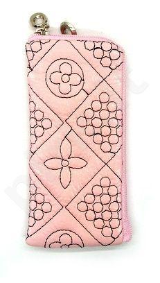 14-B FLOWER SEAM universalus dėklas 1 Telemax rožinis