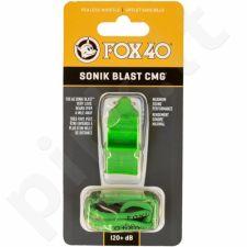 Švilpukas Pearl Fox 40 + virvutė žalia