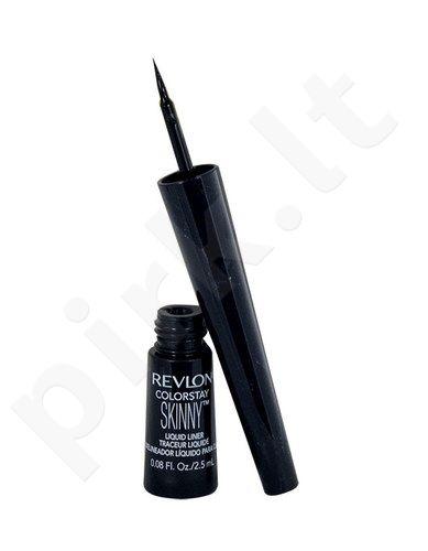 Revlon Colorstay skystas akių kontūras, kosmetika moterims, 2,5ml, (Blackest Black)