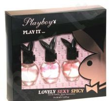 Playboy (30 ml Play It Lovely + 30 ml Play It Sexy + 30 ml Play It Spicy) Play It ..., rinkinys moterims