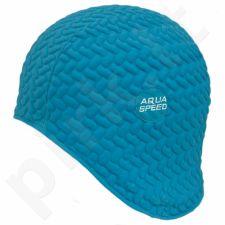 Maudymosi kepuraitė  Aqua-Speed lateksinė Bombastic Tic-Tac mėlynas