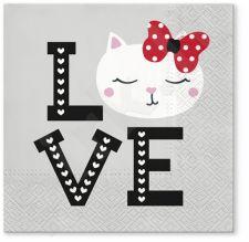 Servetėlės Lovely Cat