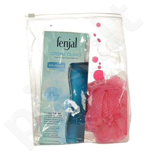 Fenjal Nourishing Creme Bath Oil Kit rinkinys moterims, (200ml Nourishing Creme Bath Oil + Sponge)