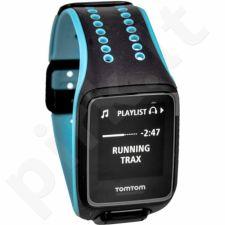 Laikrodis TomTom Runner 2 Music Large juoda-mėlynas + ausinė Bluetooth TomTom Sports