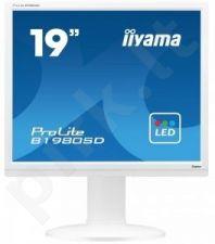 Monitorius Iiyama B1980SD 19'' LED, 5ms, DVI, Garsiakalbiai, Baltas