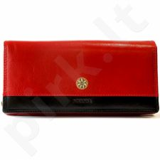 Odinė piniginė moteriška KRENIG Scarlet 13087 raudona
