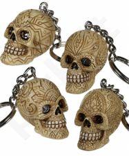 """Raktų pakabukas """"Ornamentais dekoruota kaukolė"""""""