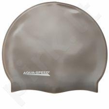Maudymosi kepuraitė  Aqua-Speed silikoninė   Mega pilkas