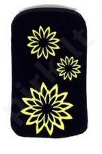 06 geltonas FLOWER universalus dėklas S5360 Telemax juodas
