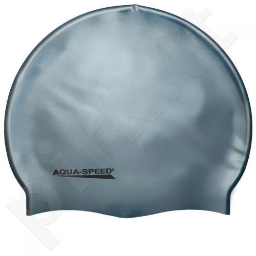 Maudymosi kepuraitė  Aqua-Speed silikoninė   Mega sidabrinė