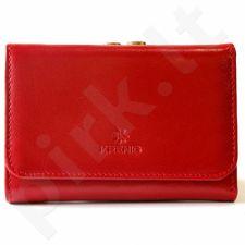 Odinė piniginė moteriška KRENIG Trendy 12009 raudona