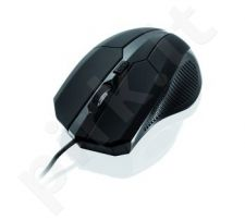 Žaidimų pelė iBox i005, Lazerinė, USB, Juoda