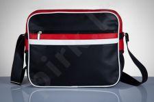 SOLIER MS01 juoda - raudona stilinga rankinė vyrams