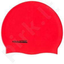 Maudymosi kepuraitė  Aqua-Speed silikoninė   Mega raudonas