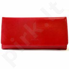 Odinė piniginė moteriška KRENIG Trendy 12087 raudona