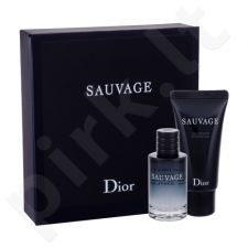 Christian Dior Sauvage, rinkinys tualetinis vanduo vyrams, (EDT 10 ml + dušo želė 20 ml)