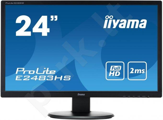 Monitor Iiyama Prolite E2483HS-B1 24'' LED FHD, DVI, HDMI, Garsiakalbiai, black