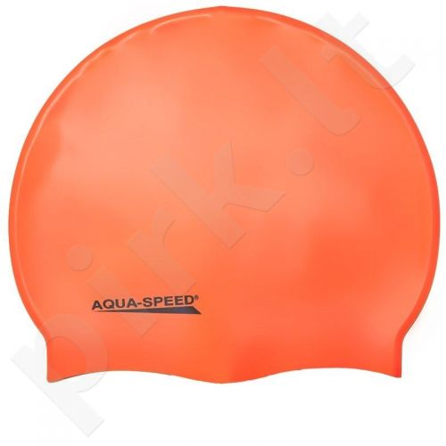 Maudymosi kepuraitė  Aqua-Speed silikoninė   Mega oranžinis