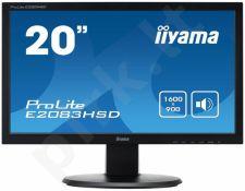 Monitorius Iiyama E2083HSD 19.5'' LED, DVI, Garsiakalbiai