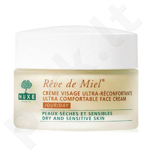 Nuxe Reve de Miel Ultra Comfortable veido kremas, kosmetika moterims, 50ml