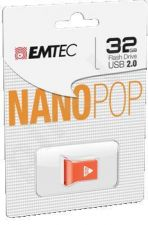 Atmintukas Emtec 32GB USB 2.0 mini-nano D102 |18MB/8MB/s| įvairios spalvos