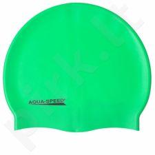 Maudymosi kepuraitė  Aqua-Speed silikoninė   Mega žalia