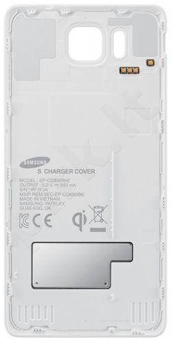 Samsung Galaxy Alpha S View bevielio įkrovimo dėklas (baltas)