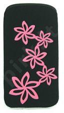 06 rožinis FLOWER universalus dėklas S5570i Telemax juodas