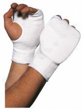 Karate pirštinės medvilninės L baltos 1cm