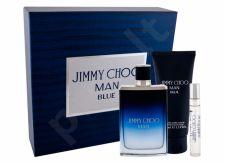 Jimmy Choo Jimmy Choo Man Blue, rinkinys tualetinis vanduo vyrams, (EDT 100 ml + EDT 7,5 ml + balzamas po skutimosi 100 ml)