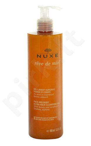Nuxe Reve de Miel Face And Body Rich valomoji želė, kosmetika moterims, 400ml