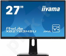 LED 27'' Prolite XB2783HSU, Full HD, 4ms, DVI, HDMI, USB, Garsiakalbiai, black