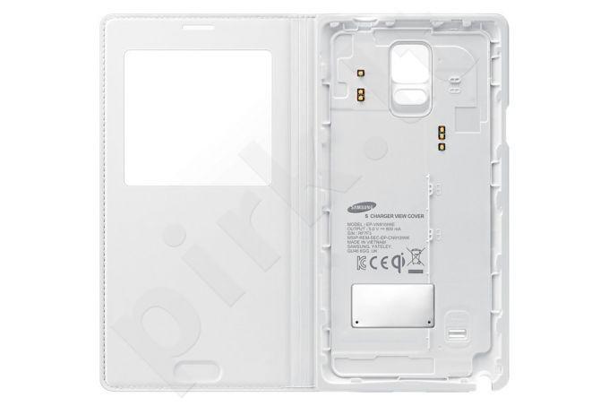 Samsung Galaxy Note 4 S View bevielio įkrovimo dėklas (baltas)