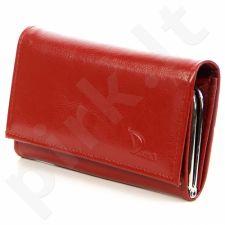 DAN-A P140 Odinė piniginė moteriška raudona
