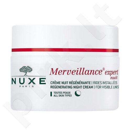 Nuxe Merveillance Visible Lines naktinis kremas, kosmetika moterims, 50ml