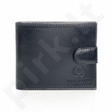 PAOLO PERUZZI Ekskliuzyvinė odinė piniginė vyriška juoda GA55