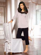 Pižama ARIEL (juodos/pudros spalvos)