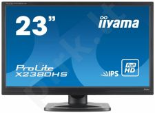 Monitorius Iiyama Prolite X2380HS-B1 23'' IPS FHD, DVI, HDMI, Garsiakalbiai