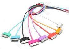 4World kabelis iPad / iPhone / iPod USB 2.0 perkėlimo/įkrovimo 1.0m juodas